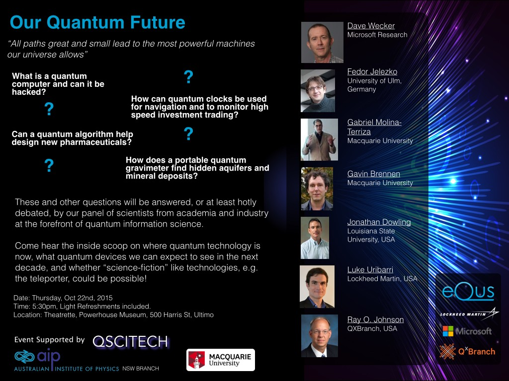 Our Quantum Future